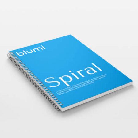 Brožura s kovovou kroužkovou vazbou